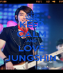 KEEP CALM AND LOVE JUNGSHIN - Personalised Poster A4 size