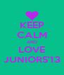 KEEP CALM AND LOVE JUNIORS'13 - Personalised Poster A4 size