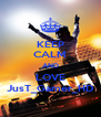 KEEP CALM AND LOVE JusT_Gamer_HD - Personalised Poster A4 size