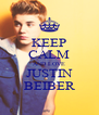 KEEP CALM AND LOVE JUSTIN BEIBER - Personalised Poster A4 size
