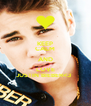 KEEP CALM AND LOVE JUSTIN BIEBER<3   - Personalised Poster A4 size