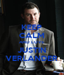 KEEP CALM AND LOVE JUSTIN VERLANDER - Personalised Poster A4 size
