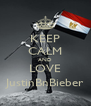 KEEP CALM AND LOVE JustinBnBieber - Personalised Poster A4 size
