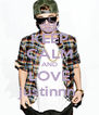 KEEP CALM AND LOVE justinnn  - Personalised Poster A4 size
