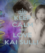 KEEP CALM AND LOVE KAI SULLI  - Personalised Poster A4 size
