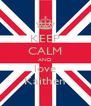 KEEP CALM AND love Kaithen - Personalised Poster A4 size