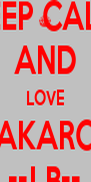 KEEP CALM AND LOVE KAKAROT ••LB•• - Personalised Poster A4 size
