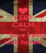 KEEP CALM AND      love kamii  niall horam - Personalised Poster A4 size
