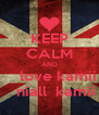 KEEP CALM AND     love kamii    niall  kamii - Personalised Poster A4 size