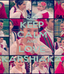 KEEP CALM AND LOVE KARSHIAKA - Personalised Poster A4 size