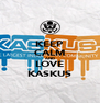 KEEP CALM AND LOVE KASKUS - Personalised Poster A4 size