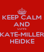 KEEP CALM AND LOVE KATE-MILLER HEIDKE - Personalised Poster A4 size