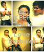 KEEP CALM AND Love Kathniel - Personalised Poster A4 size