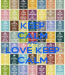KEEP CALM AND LOVE KEEP CALM - Personalised Poster A4 size