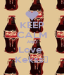 KEEP CALM AND Love  Kekss♥ - Personalised Poster A4 size