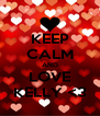 KEEP CALM AND LOVE KELLY <3 - Personalised Poster A4 size