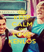KEEP CALM AND LOVE KENLOS - Personalised Poster A4 size