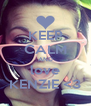KEEP CALM AND love KENZIE <3 - Personalised Poster A4 size