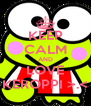 KEEP CALM AND LOVE KEROPPI >.< - Personalised Poster A4 size