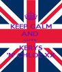 KEEP CALM AND  LOVE  KERYS 'N' CHLOE XX - Personalised Poster A4 size