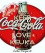 KEEP CALM AND LOVE  KEUKA - Personalised Poster A4 size