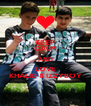 KEEP CALM AND LOVE KHALID & IZZYBOY - Personalised Poster A4 size