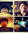 KEEP CALM AND LOVE KIBOY - Personalised Poster A4 size