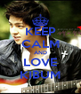 KEEP CALM AND LOVE KIBUM - Personalised Poster A4 size