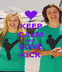 KEEP CALM AND LOVE KICK - Personalised Poster A4 size