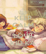 KEEP CALM AND LOVE KID KA - Personalised Poster A4 size
