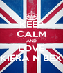 KEEP CALM AND LOVE KIERA N BEX - Personalised Poster A4 size