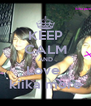 KEEP CALM AND Love  kiika more - Personalised Poster A4 size