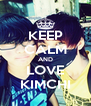 KEEP CALM AND LOVE KIMCHI - Personalised Poster A4 size