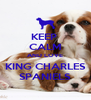 KEEP  CALM AND LOVE KING CHARLES SPANIELS - Personalised Poster A4 size