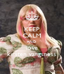 KEEP CALM AND love kirsten vangsness - Personalised Poster A4 size
