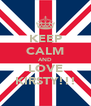 KEEP CALM AND LOVE KIRSTY!!! - Personalised Poster A4 size
