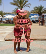 KEEP CALM AND LOVE KISSING - Personalised Poster A4 size