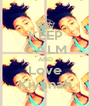 KEEP CALM AND Love Kiyanah - Personalised Poster A4 size