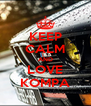 KEEP CALM AND LOVE KOMPA - Personalised Poster A4 size