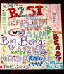 KEEP CALM AND LOVE  KPOP ONLY  - Personalised Poster A4 size