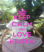 KEEP CALM AND LOVE KRISTA - Personalised Poster A4 size