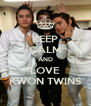KEEP CALM AND LOVE KWON TWINS - Personalised Poster A4 size