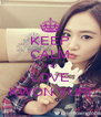 KEEP CALM AND LOVE KWON YURI - Personalised Poster A4 size
