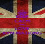 KEEP CALM AND LOVE KYM MATIONG - Personalised Poster A4 size