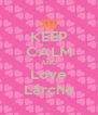 KEEP CALM AND Love Lärche - Personalised Poster A4 size