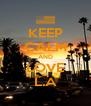 KEEP CALM AND LOVE L.A - Personalised Poster A4 size