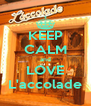 KEEP CALM and LOVE L'accolade - Personalised Poster A4 size