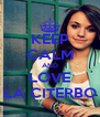 KEEP CALM AND LOVE LA CITERBO - Personalised Poster A4 size