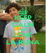 KEEP CALM AND LOVE LA RUNA - Personalised Poster A4 size