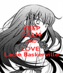 KEEP CALM AND LOVE  Lacie Baskerville - Personalised Poster A4 size